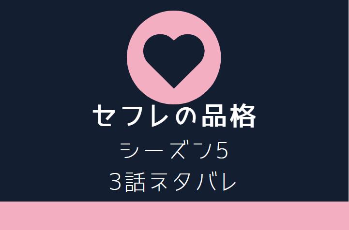 セフレの品格5巻3話のネタバレと感想【DNA鑑定の結果】