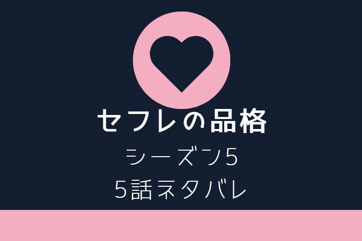 セフレの品格5巻5話のネタバレと感想【喪失と別離】