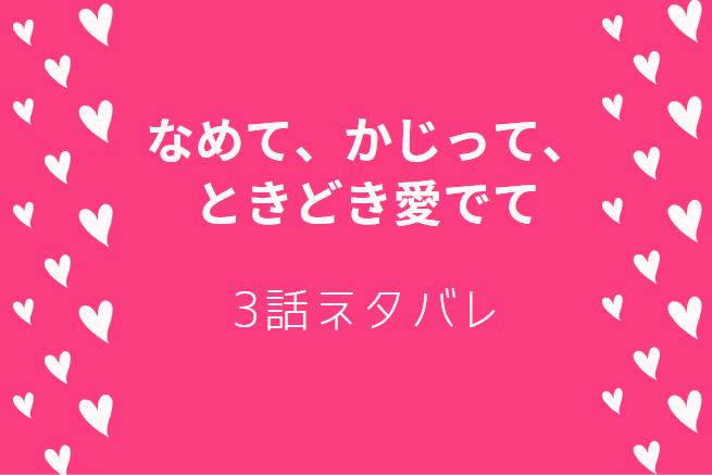 なめて、かじって、ときどき愛でて1巻3話のネタバレと感想【風邪の恩田くんと2人きり!?】