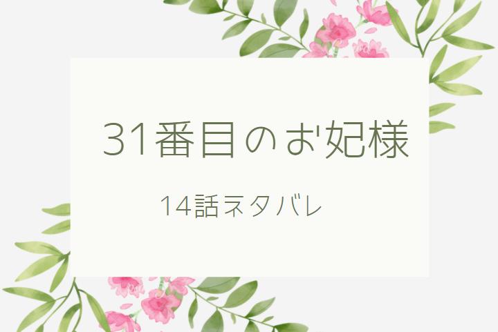 31番目のお妃様 3巻14話のネタバレと感想【兄との再会】